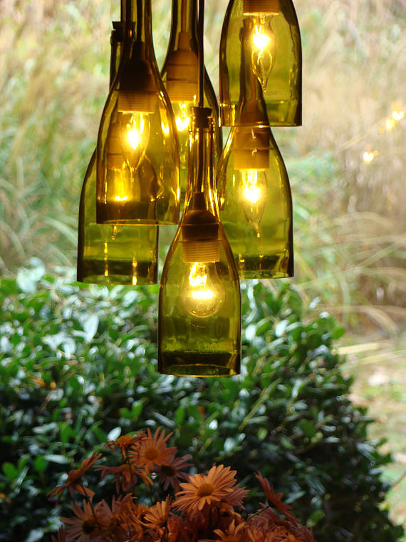 hanging wine bottle idea