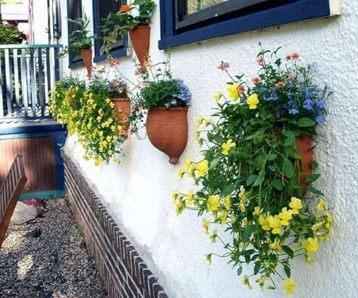 Wall with small pot